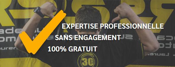 Expertise professionnelle, sans engagement, 100% gratuit